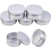 BENECREAT - 5 Pack 250ml Latas de hojalata con Tapa de Rosca, latas de Aluminio Redondas, Tapa de Tornillo, contenedores - Ideal para almacenar Especias, Caramelos, te o Regalos (Platinum)