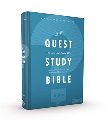 NIV, Quest Study Bible, Hardcover, Blue, Comfort Print: The Only Q and A Study Bible