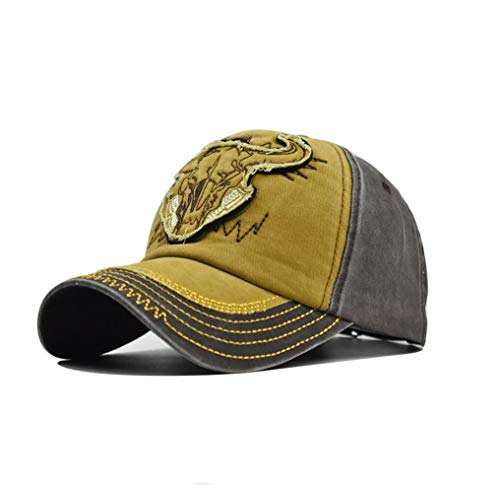 XibeiTrade Vintage Bull Bordado Gorra de béisbol Hombres Mujeres Algodón al aire...