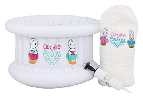 Cupcake Babies Baignoire + Cape de Bain Blanc