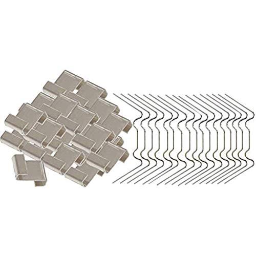 ACAMPTAR 100 Stück Edelstahl Gewächshaus Glasscheiben Befestigungsclips Gewächshaus Verglasung W Draht Clips und Z Überlappungs-Clips