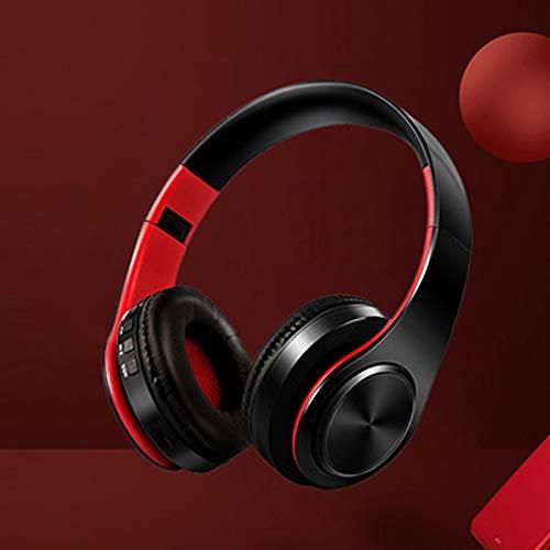 GJZ Auriculares inalámbricos Auriculares Bluetooth Auriculares Bluetooth Auriculares Manos Libres Ajustables y Plegables con para teléfono móvil