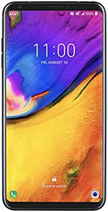 "LG V35 ThinQ (64GB, 6GB RAM) 6.0"" QHD+ FullVision, Dual Camera, 4G LTE GSM AT&T Unlocked Smartphone US Warranty (Black)"