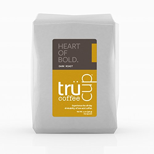 trücup Low Acid Coffee- Heart of Bold Medium Dark Roast- Medium Grind for Drip Coffee Makers 5 lb- Smooth, Vienna- Can Be Gentle on the Stomach