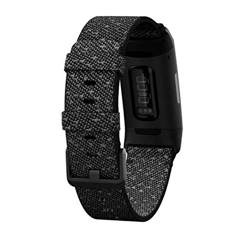 Fitbit Charge 4 Fitness Tracker, Black/Granite Reflective Woven