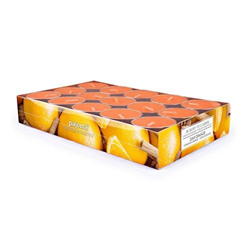pajoma Duft Teelichter 30er Set Weihnachten Geschenk Set Lange Brenndauer Duft wählbar (Zimt-Orange)
