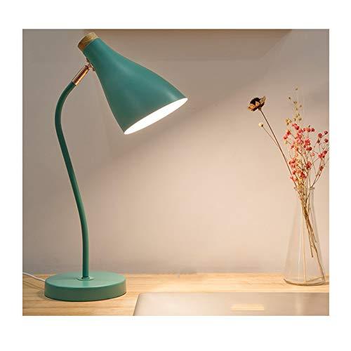 Lámpara Escritorio LED Los niños de los estudiantes lámpara de lectura creativa oficina estudio lámpara de noche dormitorio lámpara de mesa de noche la luz Flexo de Escritorio ( Color : Green )