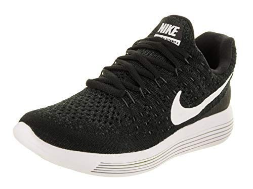 Nike Lunarepic Low Flyknit 2 GS Running Trainers 869990 Sneakers Shoes (UK 4.5 us 5Y EU 37.5, Black White Anthracite 001)