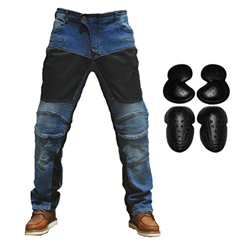 Taukey 2019 Men Motorcycle Riding Jeans Armor Racing Cycling Pants