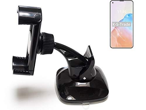 K-S-Trade Kompatibel Mit Cubot X30 Kompakte Halterung Windschutzscheibe/Armaturenbrett Schwarz Autohalterung KFZ Halter Scheiben-Halterung Armaturenbrett-Halter Kompatibel Mit Cubot X30