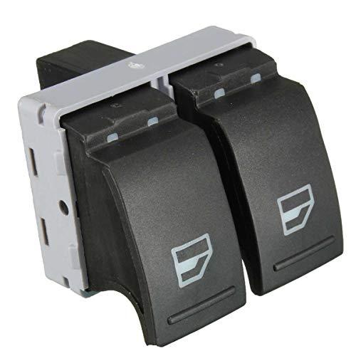 ZhiDuoXing Interruptor de elevalunas eléctrico Negro Lado del Conductor/Apto para -VW Transporter T5 T6 / 7E0 959 855A
