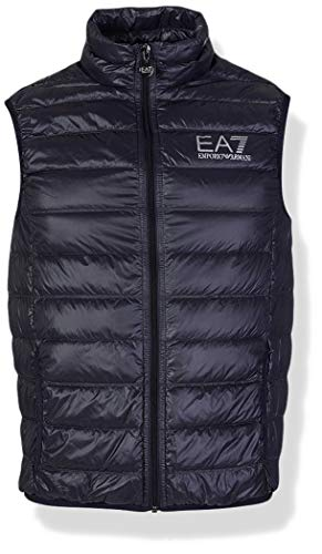 Emporio Armani Herren Train Core Down Vest Daunenweste, Nacht Blau, Medium