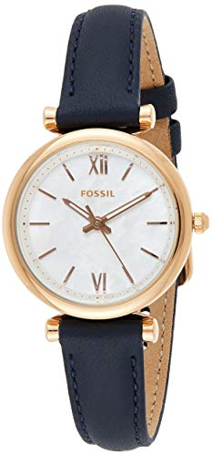 Fossil Damen Analog Quarz Uhr mit Leder Armband ES4502