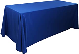 Waysle 90x132-Inch Oblong Tablecloth, 100% Polyester Washable Table Cloth 6Ft. Rectangle Table, Royal Blue