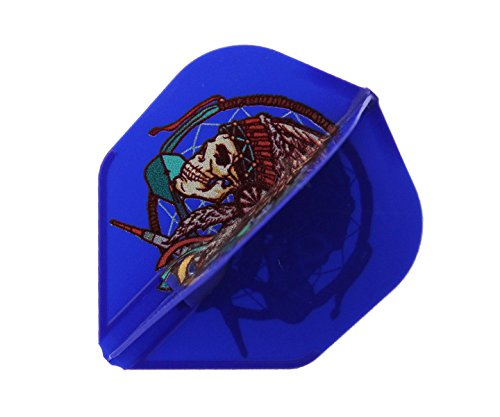 ダーツフライト【フライトエル×ジョニーズクラブ】安食賢一モデル シャンパンフライト リング一体型 ver.1 ブルー