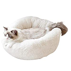 ZEJEUER Soft Washable Comfortable Pet Bed Round Nest Sleeping Sofa for Cats and Dogs GS010