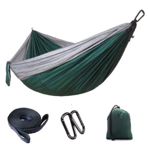 Mishuai Parachute doek hangmat buiten camping schommel 300 * 200 dubbele verlenging verbreding ultra licht benodigdheden Grijs