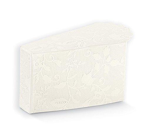 20piezas Harmony blanco caja Porción de Tarta portaconfetti 8x 4.5x 5cm