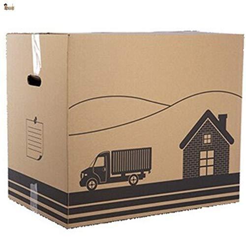 BricoLoco Lote 12 Cajas de cartón para almacenaje, mudanza, embalaje, ropa, envíos...