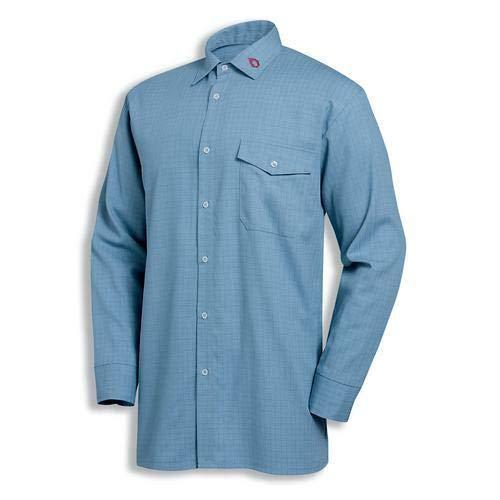 Uvex Protection Fire Herren-Arbeitsshirt - Hellblaue Männer-Hemd - aus Modacryl für Hitze- und Flammbeständigkeit 43/44