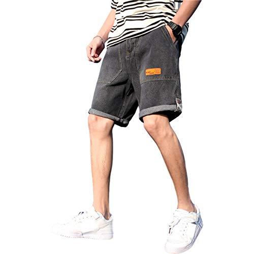 Pantalones Cortos de Mezclilla para Hombre, Tendencia de Verano, nuevos Pantalones Cortos de Mezclilla con Herramientas Retro Informales, Pantalones Cortos de Mezclilla Sueltos, Rectos, Casuales, 3XL
