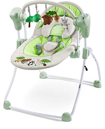 TERO-8083 Elektrische Babyschaukel Forest grau