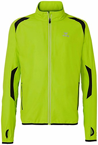 erima Uni Jacke Running Jacket Spring / Summer 2015, Lemon Green / Black, S, 806506