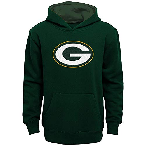 NFL Boys Youth 8-20 Team Color Primary Logo Prime Pullover Fleece Hoodie (Green Bay Packers, Youth Large 14-16)
