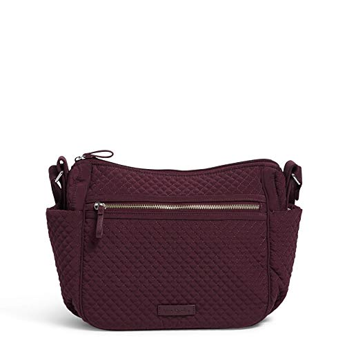 Vera Bradley Microfiber On The Go Crossbody Purse, Mulled Wine
