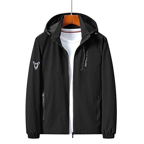WYX Herren Windbreaker Fashion Herren Streetwear Mantel Frühling Herbst Kapuzenjacke Windproof Sportswear Jacke,A,XXXXXL