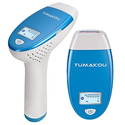 IPL Hair Removal System - TUMAKOU Painless IPL Hair Removal Device for Women & Man - FDA Approved - 400000 Flashes Professional Light Epilator - Permanent Results on Face and Body