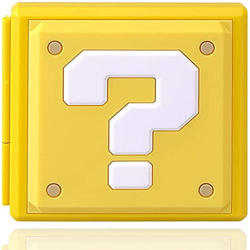Genrics Funda de Juegos Compatible con Nintendo Switch con 12 Ranuras para Almacenamiento de Tarjetas de Juego y 12 Ranuras para Tarjetas SD, Estuche para Nintendo Switch Lite NS (?)