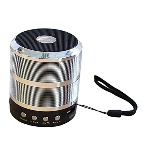 IPOTCH Altavoz portátil Bluetooth, Tamaño Compacto, Volumen y Graves Altos, Altavoz de Viaje, Altavoces Bluetooth - Plata
