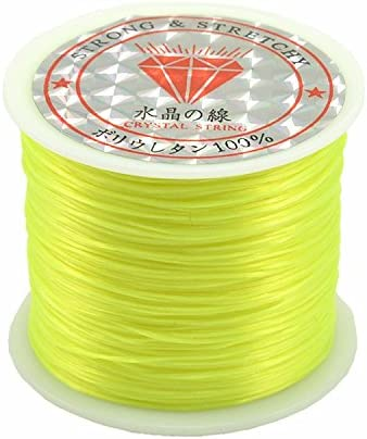 0.5mm thick,50 Meter Each Reel Roll jennysun2010 Champagne 1 Reel Strong Stretchy Elastic String Cord Thread For Diy Bracelet Necklace Jewelry