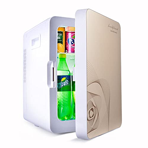 FIONAT Refrigerador de coche, hogar, doble propósito, Mini refrigerador, dormitorio de estudiantes, caja de calefacción y refrigeración portátil, 27 * 33 * 42 cm