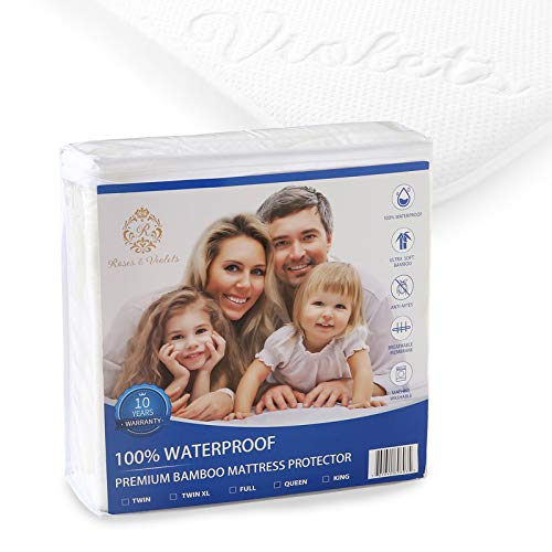 Full Mattress Protector, Waterproof Bed Bug Mattress Cover...