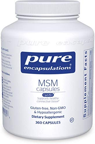 Pure Encapsulations - MSM Capsules - Hypoallergenic Supplement Supports Joint, Immune, and Respiratory Health - 250 Capsules