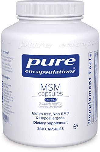 Pure Encapsulations - MSM Capsules - Hypoallergenic Supplement Supports Joint, Immune, and Respiratory Health - 360 Capsules