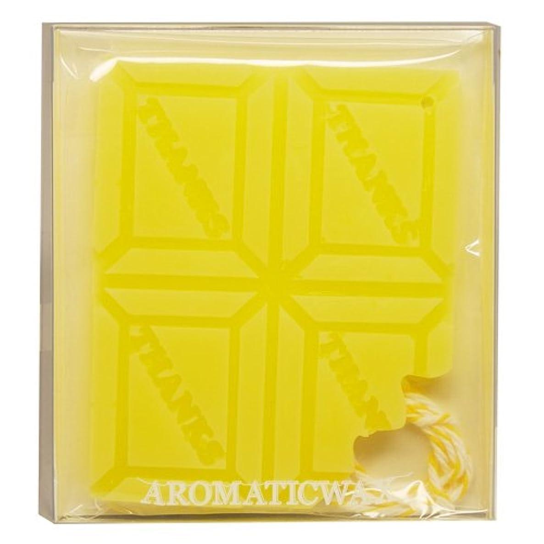 ミリメーターリーン船形GRASSE TOKYO AROMATICWAXチャーム「板チョコ(THANKS)」(YE) ベルガモット アロマティックワックス グラーストウキョウ
