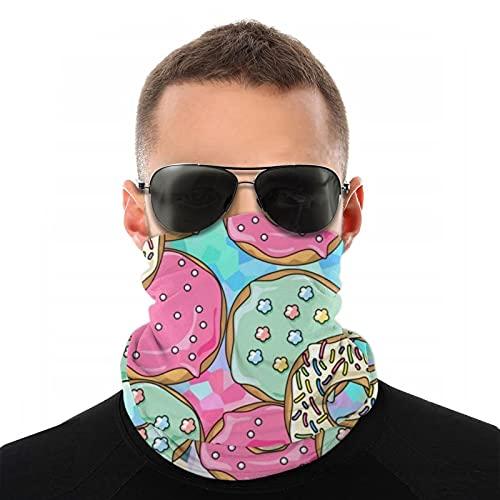 Delicioso donuts diadema bandanas tubo multifuncional Headwear cuello Polaina envoltura, cabeza mágica, máscara facial, pasamontañas