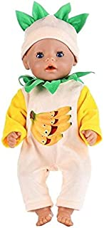TREGIA New 2Pcs/Set Suit+Shoes Dolls Outfit for 43Cm Doll Cute Jumpers Rompers for 17 Inch Doll Clothes Must Have Gifts 5 Year Old Girl Gifts My Favourite Superhero UNbox Game