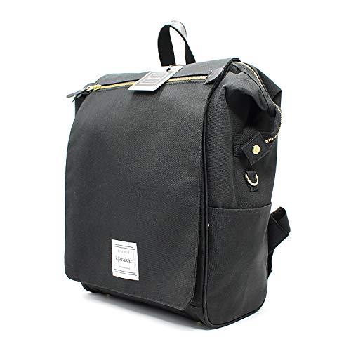 KJARAKÄR Classic Casual Backpack | Metal Zippers |Flexible Design for Gym Work...