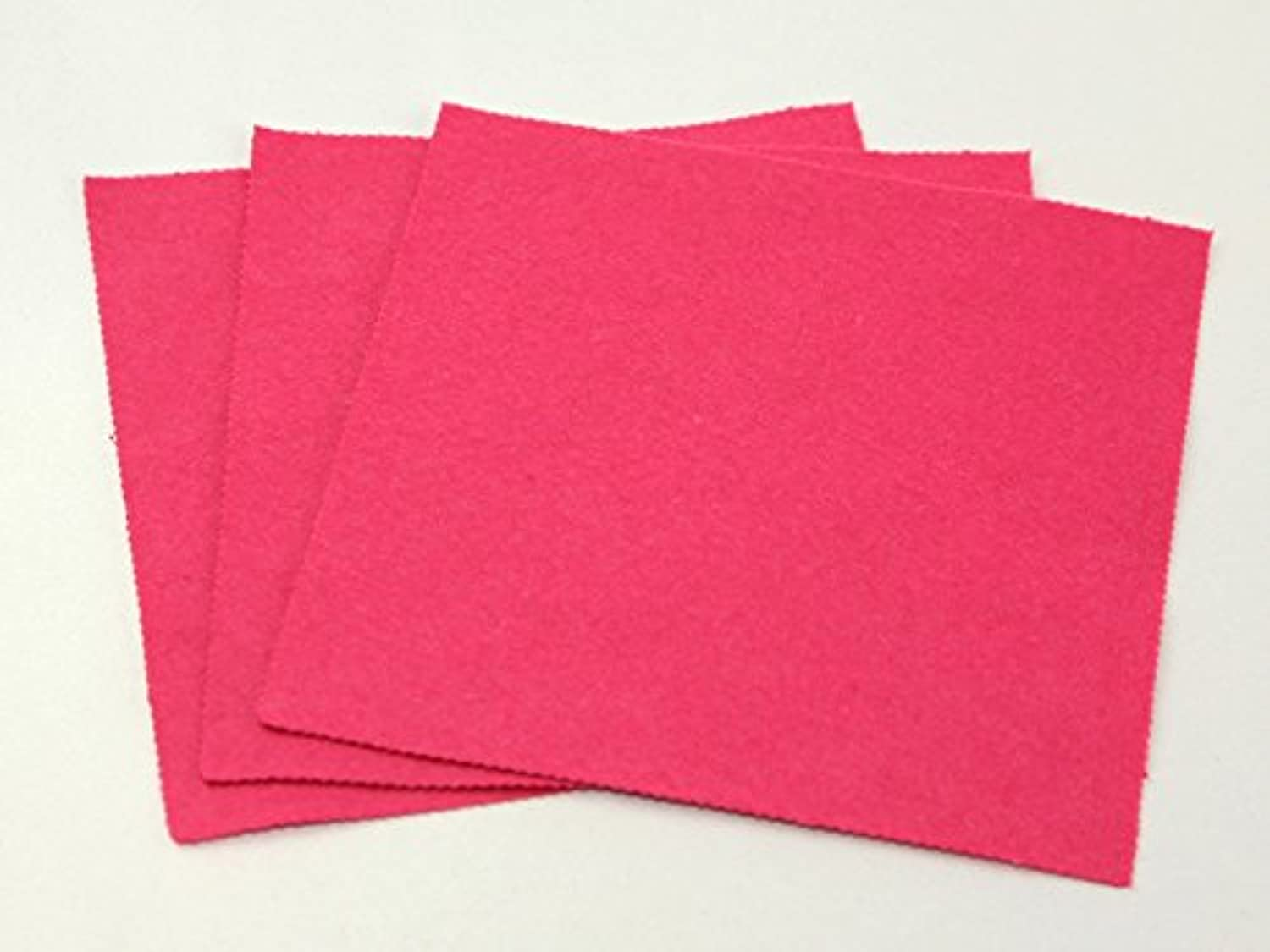 Plain Acrylic Felt Fabric 18  Square Heather Pink  per pack of 50