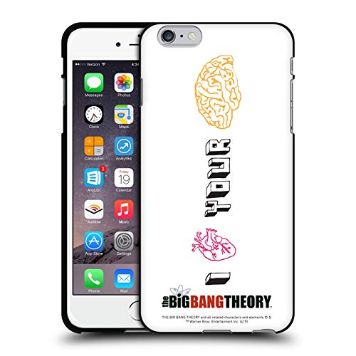 Head Case Designs Ufficiale The Big Bang Theory Cuore E Cervello Grafici Arti 2 Cover Nera in Morbido Gel Compatibile con Apple iPhone 6 Plus/iPhone 6s Plus