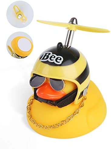 YumKubis Duck Toy Car Decorations Rubber Duck Car Ornaments for Dashboard Yellow Duck Bike Bell product image