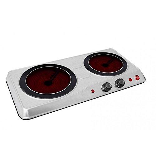 Acier inoxydable Plaque Vitrocéramique Céramique Infrarouge 2 plaques de cuisson Camping Ceranfeld