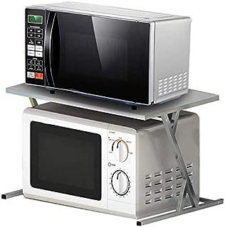 DUDDP Étagère cuisine 2-Tier Four Rack, support de cuisine en acier inoxydable étagère, Rice Cooker rack Spice Rack Cabine...