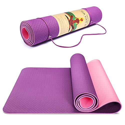 TWING Extra-Wide Power Yoga Mat, Non-Slip Yoga Mat, Workout Mat for Yoga, and Exercises Extra Wide Exercise Mat
