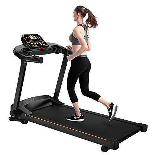 Folding Treadmills for Home,Caminadora Electrica,Portable Treadmill with Incline,Easy to Assemble Folding Treadmills for Home 220 lbs Weight Capacity,Treadmill Desk with LCD Display/Cup Holder/Stereo