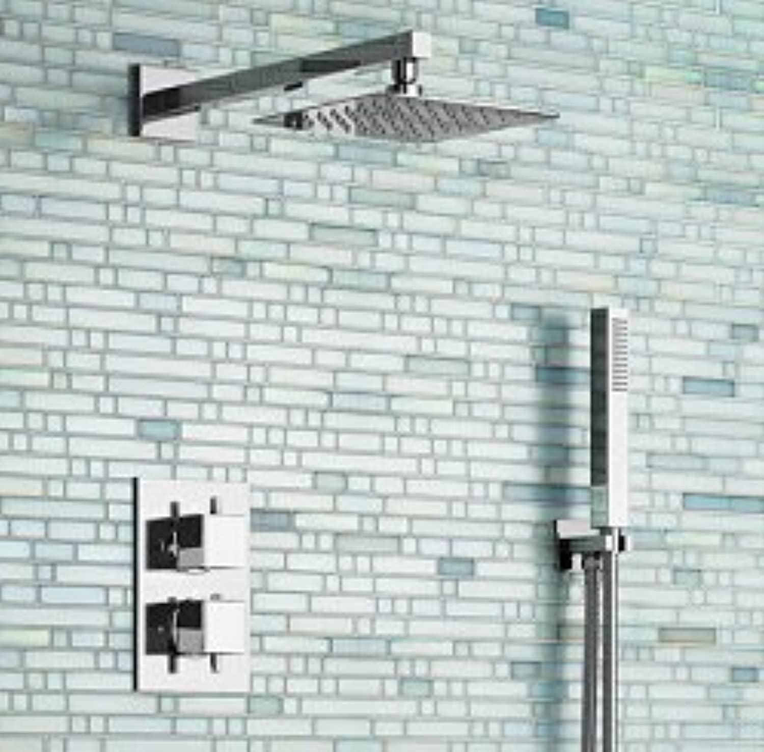 Wall Mounted Auto-Thermostat Control bathroom bath shower sets SF-26592,Weiß